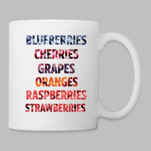 Fruechte Beeren Worte - Tasse