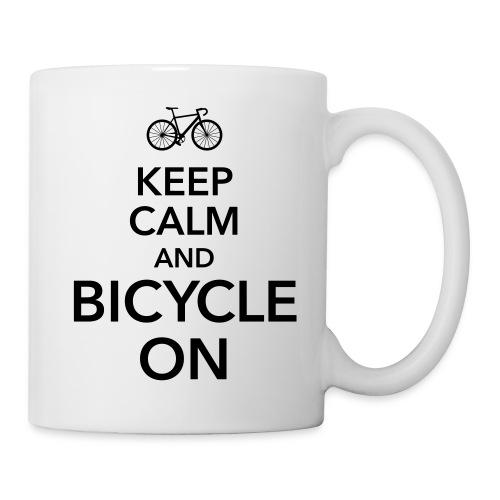 keep calm and bicycle on Fahrrad Drahtesel Sattel - Mug