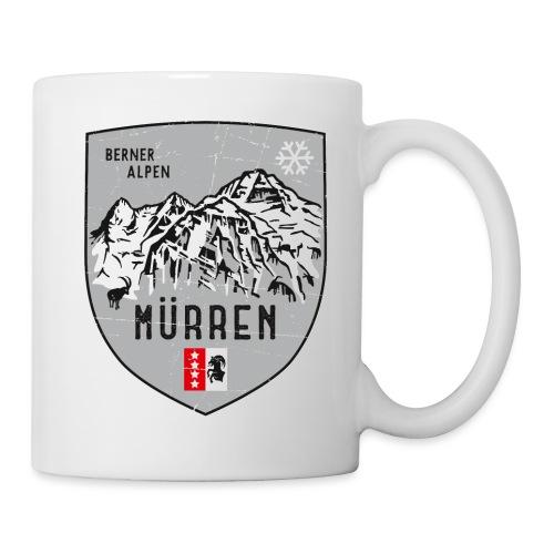 Eiger, Mönch und Jungfrau mit Mürren Flagge - Mug