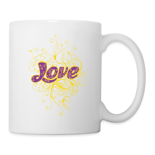 LOVE VIOLA CON DECORI - Tazza