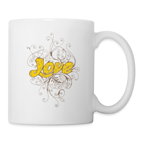 Scritta Love con decorazione - Tazza