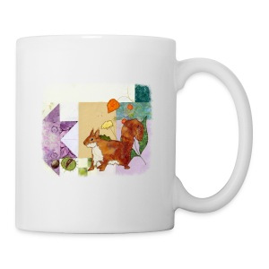 Autumn squirrel with conkers - Mug