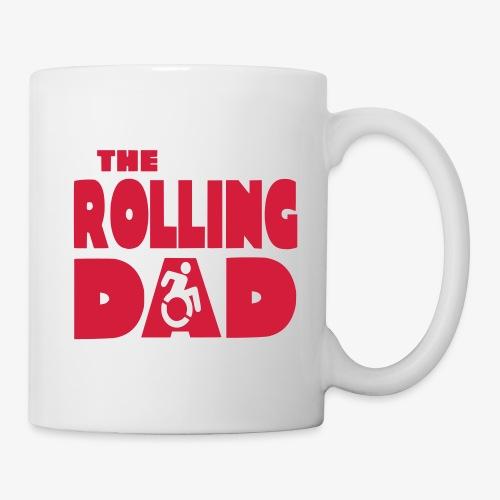 > De rollende papa in een rolstoel - Mok