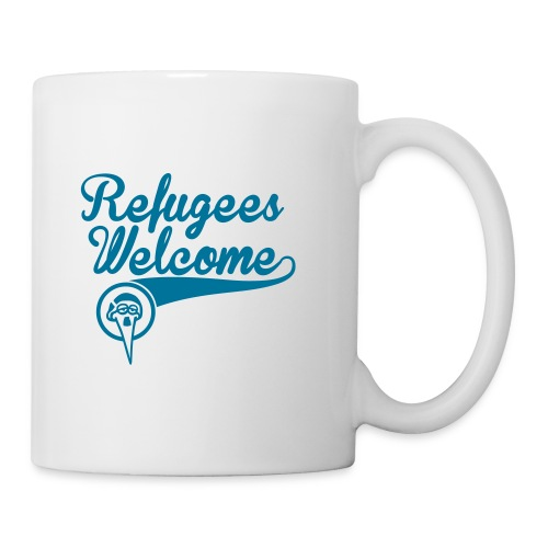 refugees-welcome-storch-h - Tasse