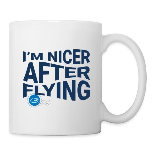 I'm nicer after flying (Blue) - Mug