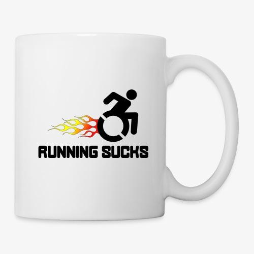 Rolstoel gebruikers vinden rennen niet leuk - Mok