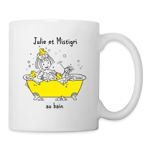 Julie et Mistigri au bain - Mug blanc