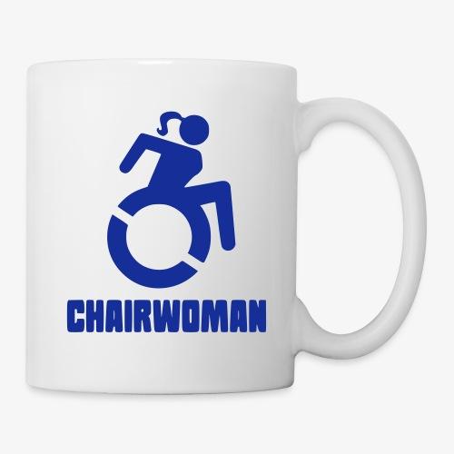 Rolstoel vrouw, chairwoman, dame in rolstoel, roll - Mok