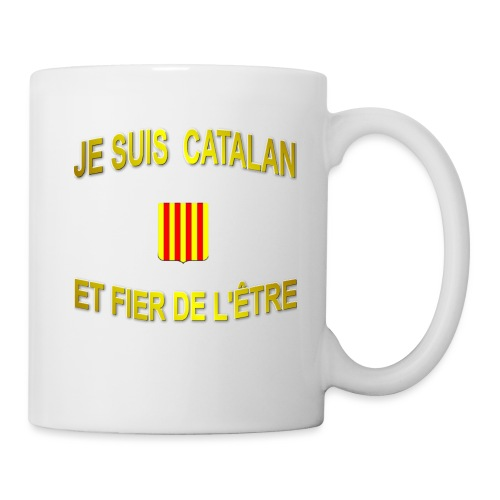 Tee-Shirt supporter du pays CATALAN - Mug blanc