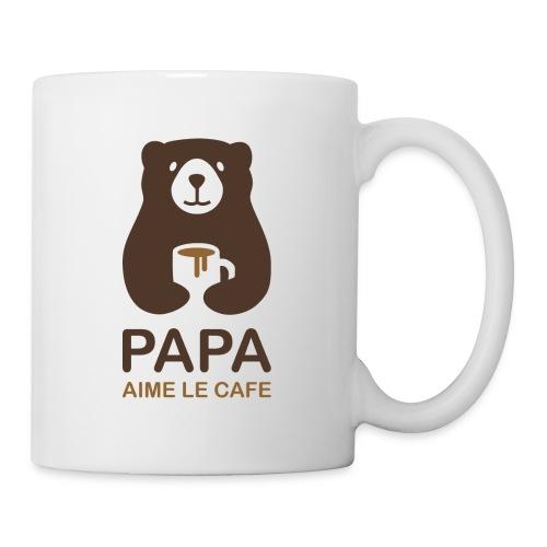 Papa aime le café - Mug blanc