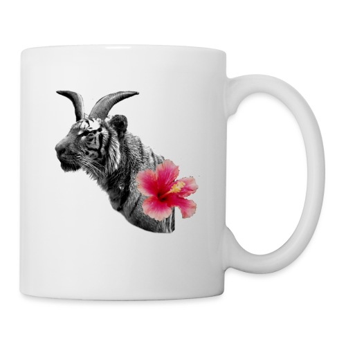 Horned Tiger Hibiscus graphic - Mug