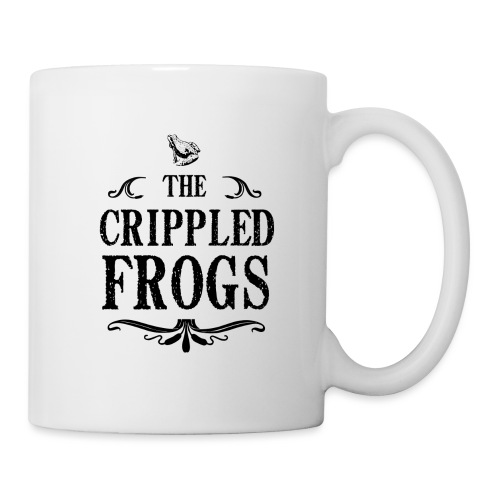 Logo The Crippled Frogs Black - Mug blanc