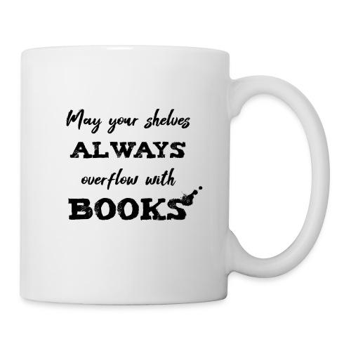 0040 Always full bookshelves | Bücherstapel - Mug