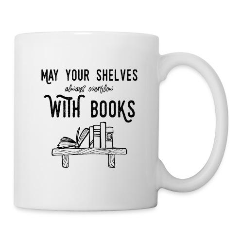 0036 bookshelf   Stack of books   Book   Read - Mug