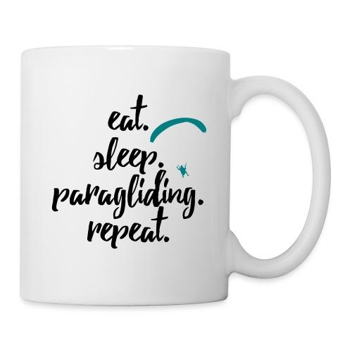 eat. sleep. paragliding. repeat. - Tasse