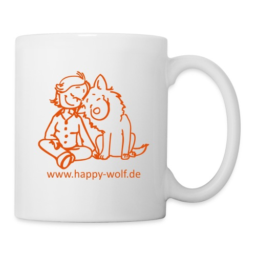 happywolforangetransparent - Tasse