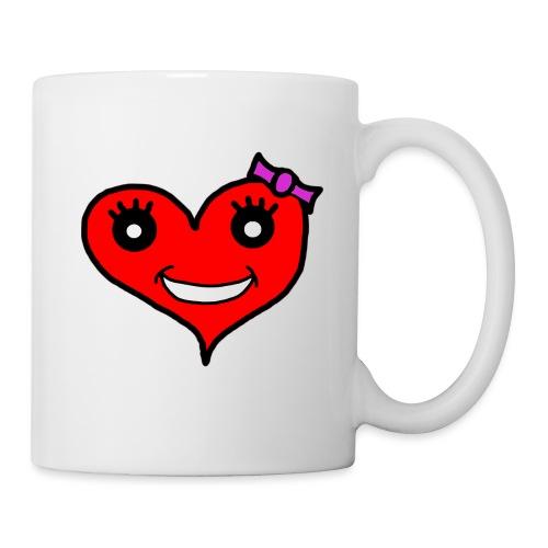 Herz Smiley Schlaufe - Tasse