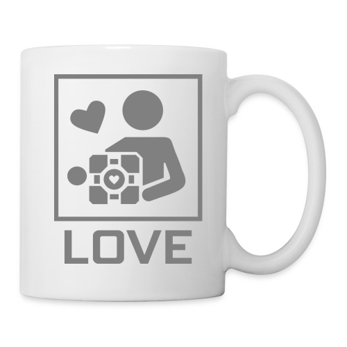 SPREADSHIRT_PORTAL_CUBE_LOVE - Tazza