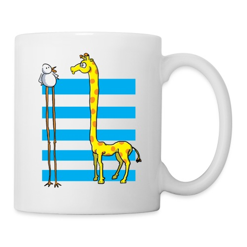 La girafe et l'échassier - Mug blanc
