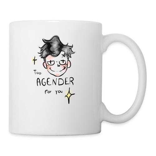 Too Agender for You - Mug blanc