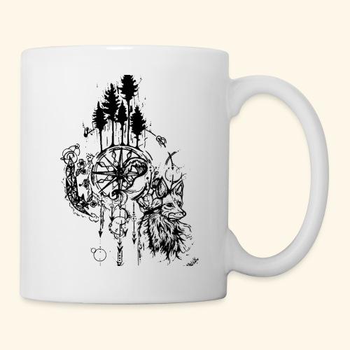 renard nature - Mug blanc
