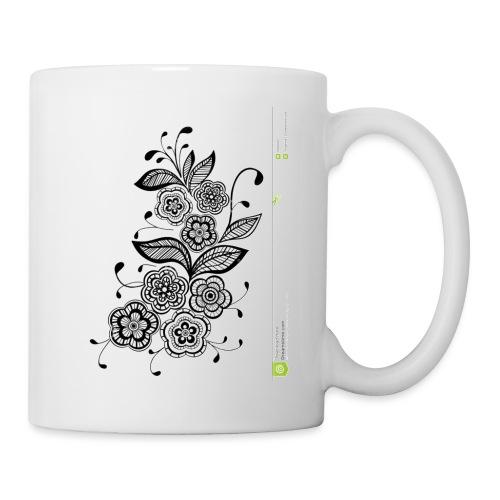 diseño de flores - Taza