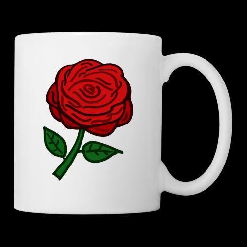 Rote Rose - Tasse