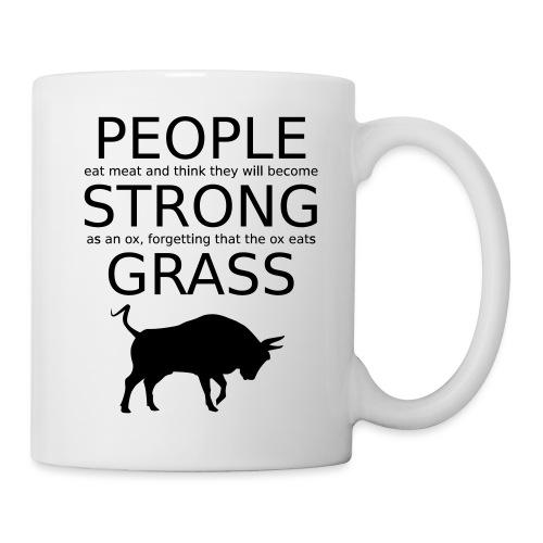 Strong People are Vegan - Tasse