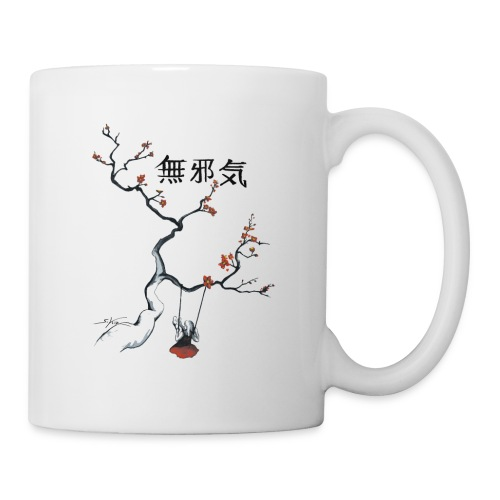 cerisier et sa balançoire - Mug blanc