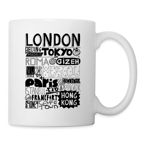 Villes du monde - Mug blanc