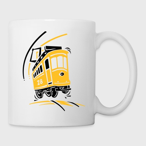 Tramway 28 cartoon Lisbonne - Mug blanc