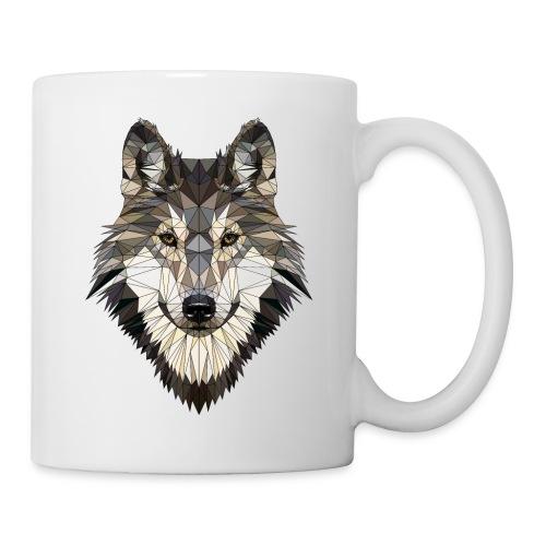 wolf, polygon design, unique - Mug