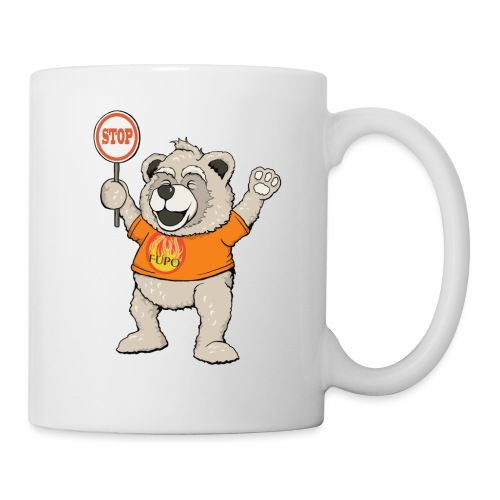 FUPO der Bär. Druckfarbe bunt - Tasse