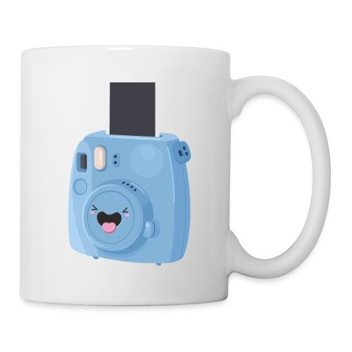 Appareil photo instantané bleu - Mug blanc