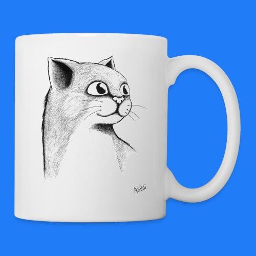 CAT HEAD by AGILL - Mug blanc