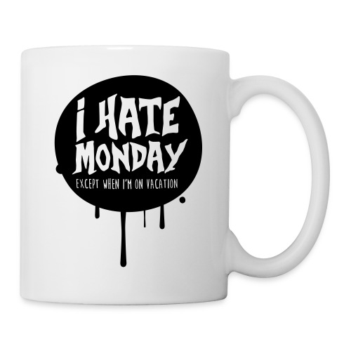 je déteste le lundi - Mug blanc