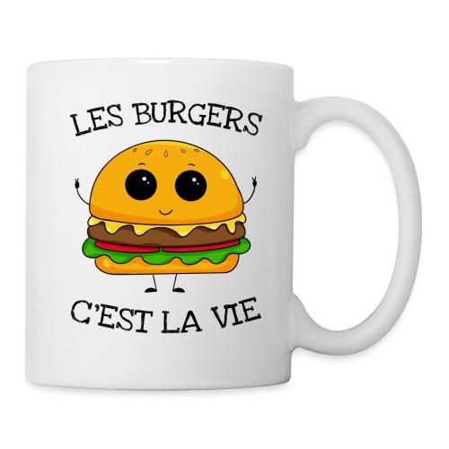 Les burgers c'est la vie - Mug blanc