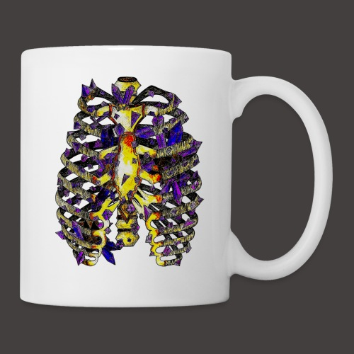 La Cage Thoracique de Cristal Creepy - Mug blanc
