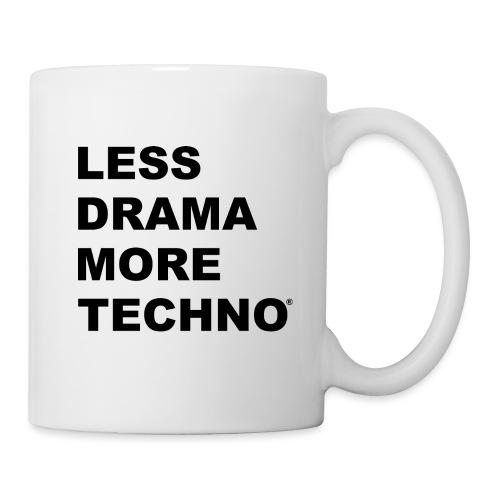 Less Drama More Techno - Mug blanc