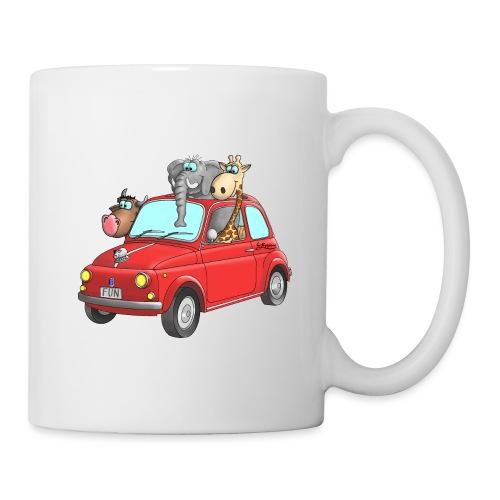 Giraffe - Elefant - Bulle im Auto Kinder - Tasse