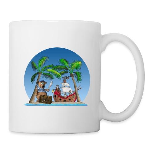 Pirat - Piratenschiff - Schatzinsel - Tasse