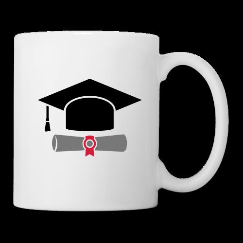 Doktorhut mit Zeugnis - Geschenk zum Abschluss - Tasse