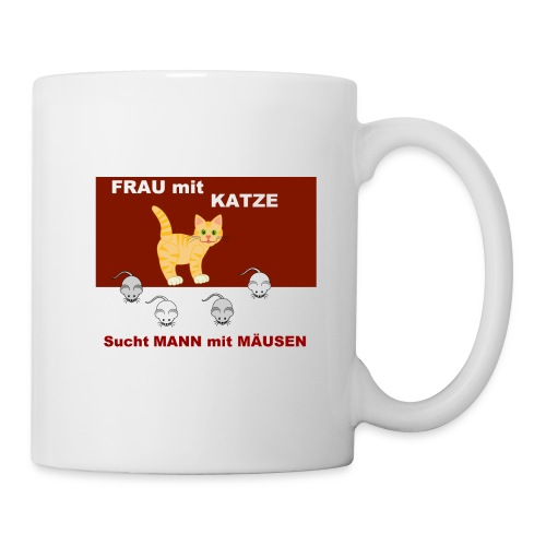 Frau mit Katze - Katzen-Humor - Tasse