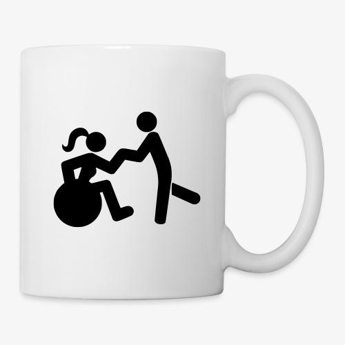 Afbeelding van vrouw in rolstoel die danst met man - Mok
