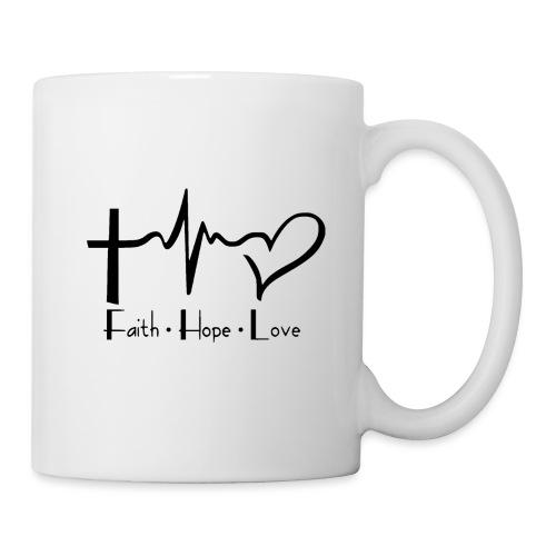 faith hope love - Mug blanc