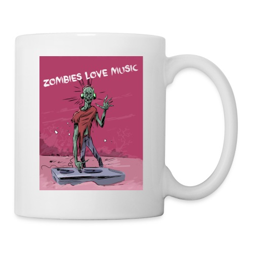 Zombies love music - Mug blanc