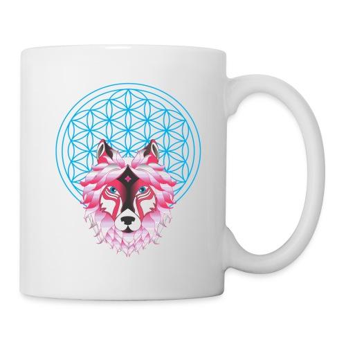 fleur de vie loup n°1 - Mug blanc