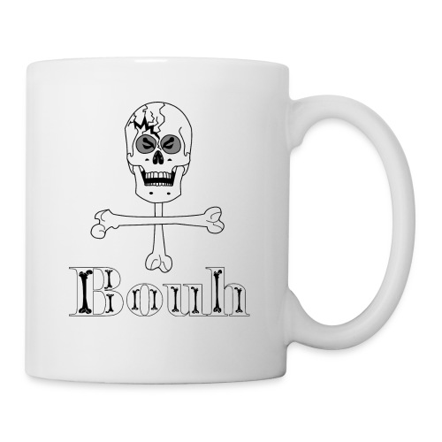Crâne et croix d'os … Halloween fais moi peur FS - Mug blanc