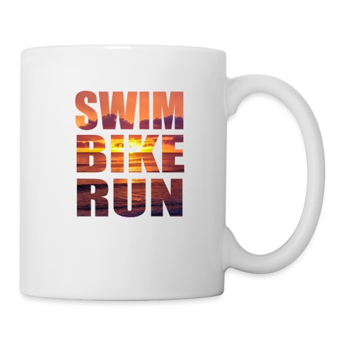 swim bike run @RUNNINGFORCE - Tasse