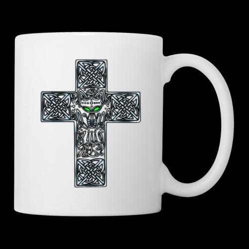 Wolf s Head Cross Silver - Mug